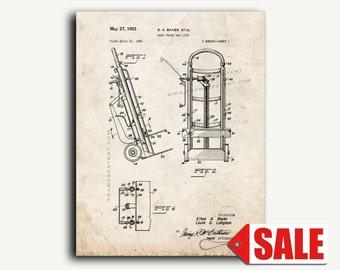 Patent Art - Hand Truck and Lift Patent Wall Art Print