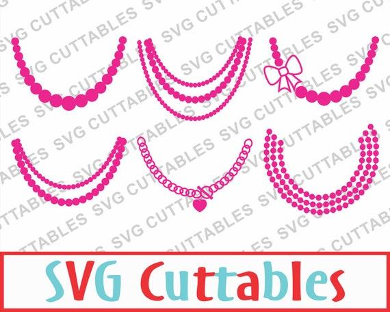 Necklace Svg Set Of 6 Svg Dxf Eps Vector Digital Cut File