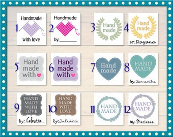 Iron On Clothing Labels Sew on / Craft Crafts / Laundry Safe / Handmade garment / Knit  **UNCUT version