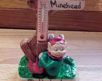Vintage Manor Ware Butlinsland Minehead 50's Pixie thermometer