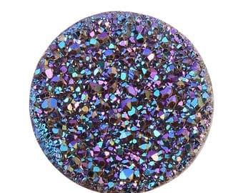 Green Drusy Quartz Round Cabochon Loose Gemstones 1A Quality 7mm TGW 0.80 cts.