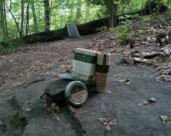 Woodsy Warrior Bundle - Poison Ivy & Oak/Insect Repellent Soap, Sunstick and Salve