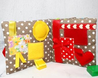 Quiet Book,Busy Book, Montessori, Waldorf, Sensory Toys, Baby Gift, Montessori Toys, Fabric Book