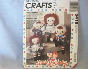 McCall's Crafts Pattern #5418 Little Raggedys - Uncut