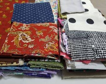 Destash lot of fabric scraps, fabric remnants