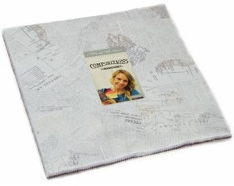 """Compositions by Basic Grey for Moda Layer Cake 42 - 10"""" Squares 30450lc"""