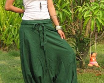 Harem Pants Women Baggy Pants Aladdin Yoga Pants Harem Baggy Pants Men Gypsy Pants Harem Boho Pants * HL - green