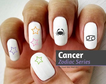 Cancer Zodiac - Water Slide Nail Decals