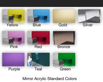 Mirrored PlexiGlass Acrylic Laser-Cut To Your Specifications