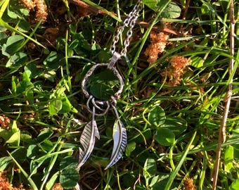 "Pendant ""Wild Feathers"" - Sterling silver"