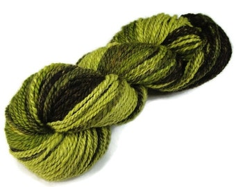 Hand dyed and handspun gradient yarn, worsted weight yarn 150 yards, for knitting or crocheting