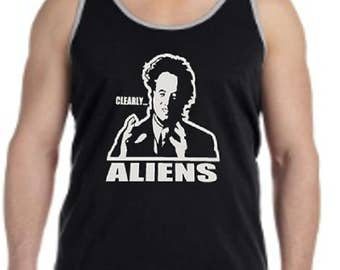 Ancient Aliens Clearly Aliens Tank Top / Aliens Giorgio Tsoukalos Men's Tank Top / TV Show Tank Tops / Ancient Aliens Tank Tops