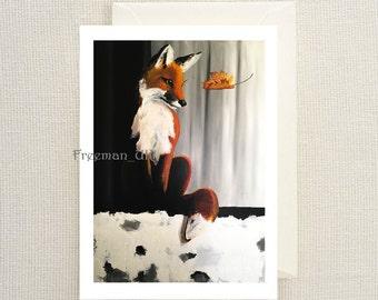 Fox and Leaf Fine art