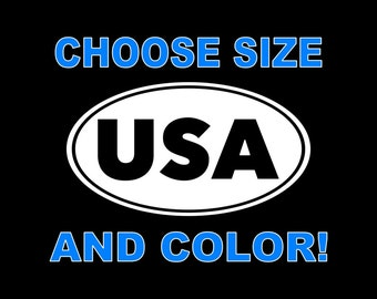 USA Decal United States Decal US Car Decal  America Decal USA Car Decal America Truck Decal Bumper Sticker Window Wall Tablet Yeti Tumbler