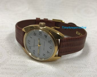 Vintage Original Caravelle Water Resistant Stainless Mechanical Mens Wrist Watch