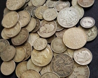 World Silver Coins from Huge Hoard // Old Antique Coins Money // 1 COIN