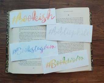 Bookstagram Watercolor Bookmarks Set 2