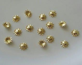 Gold Sun nail charms, nail jewels, nail jewelry, nail decoration, nail gems for nail art or craft- 5 Pcs