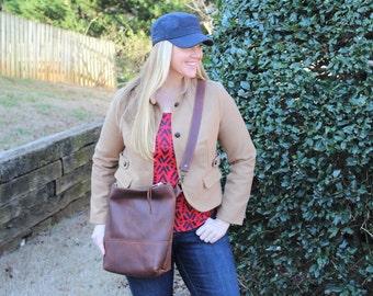 The MARIA Handbag ALL BROWN, Leather Purse, Two Toned Leather Bag, Leather Purse, Shoulder Adjustable Cross Body Bag, Megans Mark