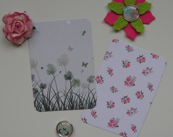 Journaling Cards, Set of 20, Ephemera, Paper embellishments, Die cut, Project Life cards, Bookmarks, Labels, Tags