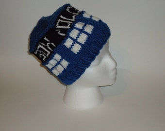 Doctor Who Tardis Knit Hat