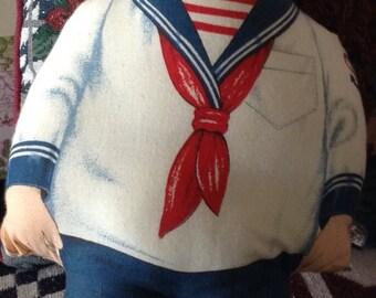 Homemade Cloth Sailor Boy