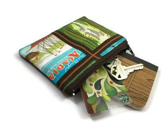 Coin Purse - Coin Bag - Change Purse - Small Cosmetic Bag - Zipper Pouch - Change Pouch in National Parks