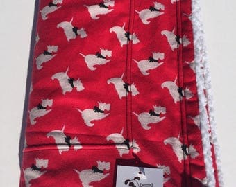 Scottie Dog Blanket, Pet Blanket, Scotty Dog Fabric, Wheelchair Blanket, Toddler Blanket, Baby Shower Gift, Dog Throw, Couch Throw, Dog Gift