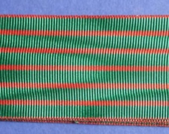 French Medal Ribbon For Croix De Guerre Bravery Medal