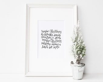Grinch quote // 8x10 print // Christmas printable quote // Christmas wall art // Christmas movie quote