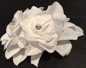 Wedding Hair Flower, White Wedding Hair Flower, White Flower Hair Clip, White Hair Accessory, White Bridal Accessories