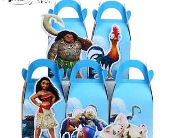 Moana Favor Box Candy Box Gift Box Cupcake Box Boy Kids Birthday Party Supplies Decoration Event Party Supplies
