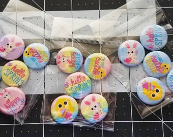 Flat Back Buttons M2M Hello Spring! Easter Collection - 5pc