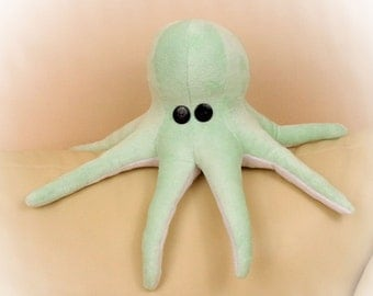Octopus Pillow, Toy Pillow, 3D Pillow, Nautical Decor, Beach House Decor Pillow