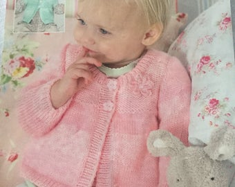 Sirdar easy knit baby matinee jacket knitting pattern