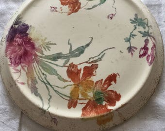Floral Pottery Teapot stand circa1900