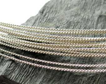 Twisted wire, Sterling Silver, Ag925, many diameters [1 meter]