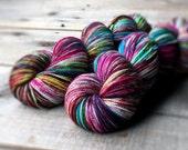 ELECTRIC ROSE A American Sock, yarn, superwash merino, American made, knitting, sock yarn, wool