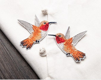 Wholesale lot 4pcs   embroidered bird  iron  on patch  6x7cm