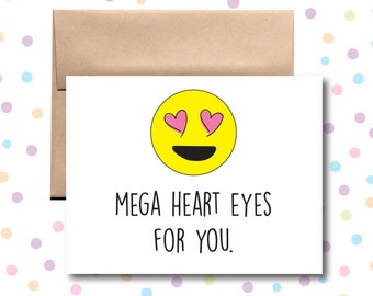 Mega Heart Eyes for You Card