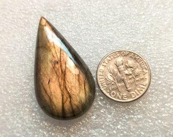 60% OFF Pear Labradorite Gemstone Labradorite Gems 36x20x8 mm (O-35)
