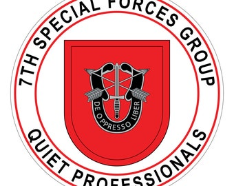 Special Forces Stickers - 7th Group