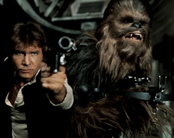Han Solo & Chewbacca - Star Wars Episode IV: A New Hope - 12 x 18 Photo
