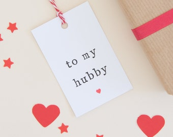 Hubby Gift Tag, Husband Gift Tag, Gift tag for present, Hubby present tag, Tag for Husband, Christmas Gift Tags, Christmas Gift Husband,