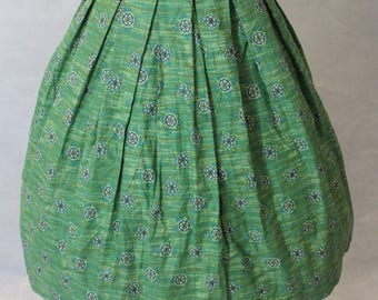 Darling vintage green mid century print skirt
