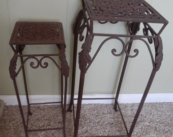 French County Matching Metal Accent Tables!