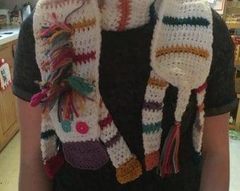 Crochet zebra scarf