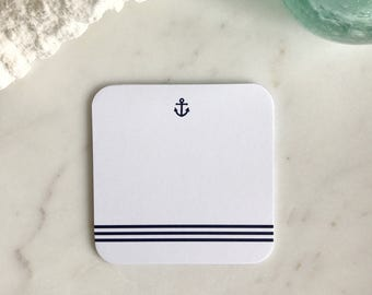 Anchor Stripe Coasters