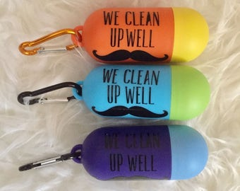 We Clean up Well waste bag dispenser/ poop bag dispenser
