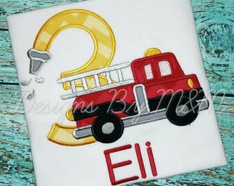 Fire Truck Birthday Shirt, Firetruck Birthday Shirt, Fire Truck Shirt, Firetruck Shirt, Fire Fighter Birthday Shirt, Fire Fighter Shirt